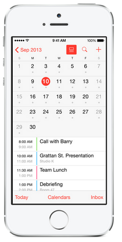 ios7.1 calendar improvement
