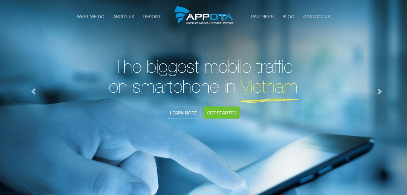 Appota home page